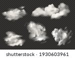 set of realistic clouds. cloud... | Shutterstock .eps vector #1930603961