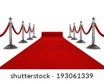 red carpet. 3d illustration... | Shutterstock . vector #193061339