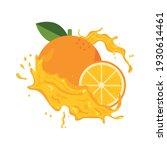 orange fruit splash juice fresh | Shutterstock .eps vector #1930614461