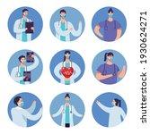 bundle of doctors staff wearing ... | Shutterstock .eps vector #1930624271