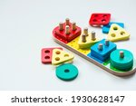 Children's wooden toy. sorter...