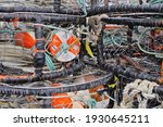 Stacked Crab Pots  Traps In...