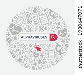 alphaviruses  disease written... | Shutterstock .eps vector #1930647071