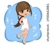 little girl. winter. vector... | Shutterstock .eps vector #1930662881
