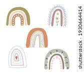 boho rainbows set abstract... | Shutterstock .eps vector #1930664414