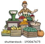 Fruit And Vegetable Stall ...