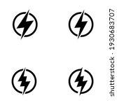 flash icon. lightning symbol...