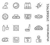 collection of car interior... | Shutterstock .eps vector #1930687901