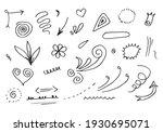 hand drawn set elements  black... | Shutterstock .eps vector #1930695071