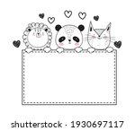 wild animals adorable sketch... | Shutterstock .eps vector #1930697117