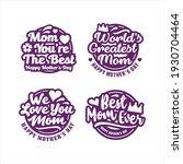 mother day design label stamps... | Shutterstock .eps vector #1930704464