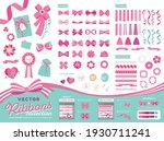 a ribbon material that can be... | Shutterstock .eps vector #1930711241
