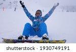 cheerful beautiful young girl... | Shutterstock . vector #1930749191