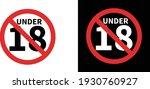 no entry under 18 symbol ...   Shutterstock .eps vector #1930760927