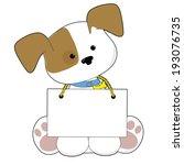 a sweet little puppy sitting...   Shutterstock .eps vector #193076735