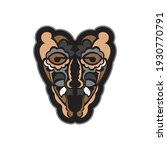 color tattoo mask in maori or... | Shutterstock .eps vector #1930770791
