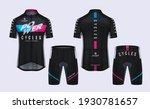 cycling jerseys mockup t shirt... | Shutterstock .eps vector #1930781657
