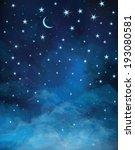 vector night starry sky. | Shutterstock .eps vector #193080581
