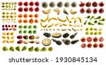 large set of fruits isolated on ...   Shutterstock . vector #1930845134