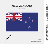 new zealand national map and... | Shutterstock .eps vector #1930861814