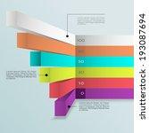 business infographics graph... | Shutterstock .eps vector #193087694