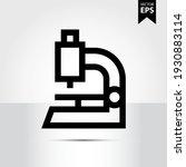 microscope icon in trendy style ...