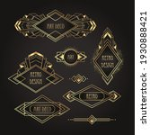 art deco vintage gold patterns... | Shutterstock .eps vector #1930888421