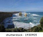 Twelve apostles. Famous australian landmark (Great Ocean Road, Victoria, Australia) - stock photo