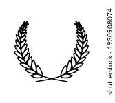 laurel wreath. vector hand...   Shutterstock .eps vector #1930908074
