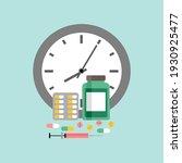 medicine time concept. medicine ... | Shutterstock .eps vector #1930925477