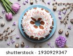 Glazed Easter Cake With...