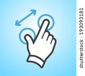 vector modern flat design hand... | Shutterstock .eps vector #193093181
