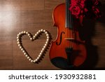 Violin And Pearl Necklace ...