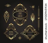 art deco vintage gold patterns... | Shutterstock .eps vector #1930945934