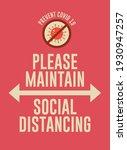 covid prevention poster design...   Shutterstock .eps vector #1930947257
