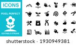 gardening and planting icons... | Shutterstock .eps vector #1930949381