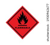 flammable sign on a red...   Shutterstock .eps vector #1930962677