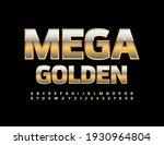 Vector Mega Golden Alphabet Set....