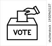 hand voting ballot box icon ...   Shutterstock .eps vector #1930965137