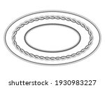 twisted rope frame of oval... | Shutterstock .eps vector #1930983227