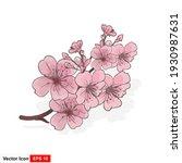 vector illustration of pink... | Shutterstock .eps vector #1930987631