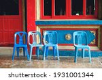 Blue Chairs In A Buddhist...