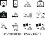 silver bullion investment...   Shutterstock .eps vector #1931015147