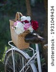Flowers In A Bicycle Basket....