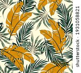 tropical pattern with abstract... | Shutterstock .eps vector #1931058821