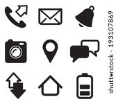 mobile phone icons | Shutterstock .eps vector #193107869