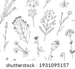 floral vector seamless pattern...   Shutterstock .eps vector #1931095157