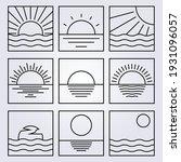 bundle line art sun logo vector ... | Shutterstock .eps vector #1931096057