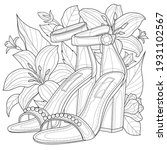 shoes with flowers.coloring... | Shutterstock .eps vector #1931102567