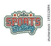online sports betting sign | Shutterstock .eps vector #193112894